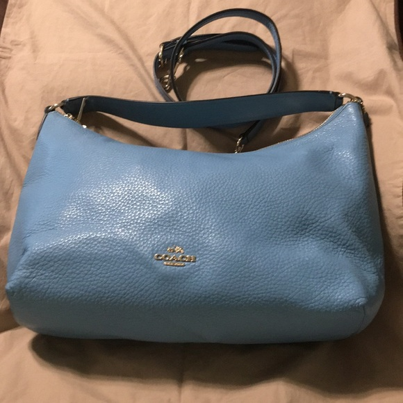 02d0d76c99 FINAL PRICE 👜 New COACH Blue Leather Large Bag NWT